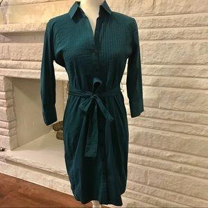 Express Design Studio Teal Shirt Dress